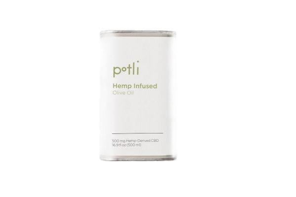 Photo shot of Potli Hemp CBD Infused Olive Oil